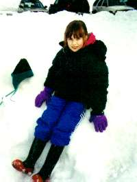 Catriona in the snow 2001